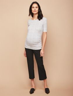Secret Fit Belly Bi-stretch Suiting Boot Cut Maternity Pants, Black
