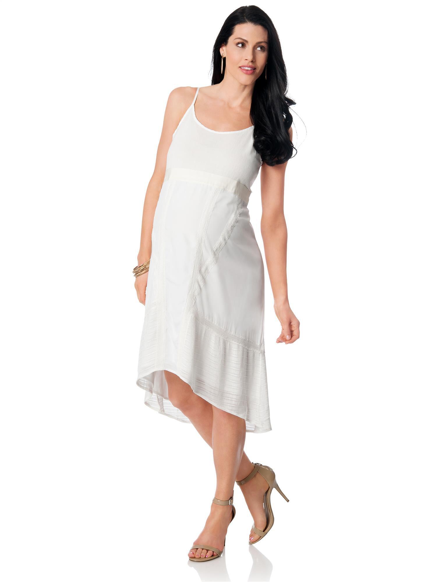 High-low Hem Maternity Dress