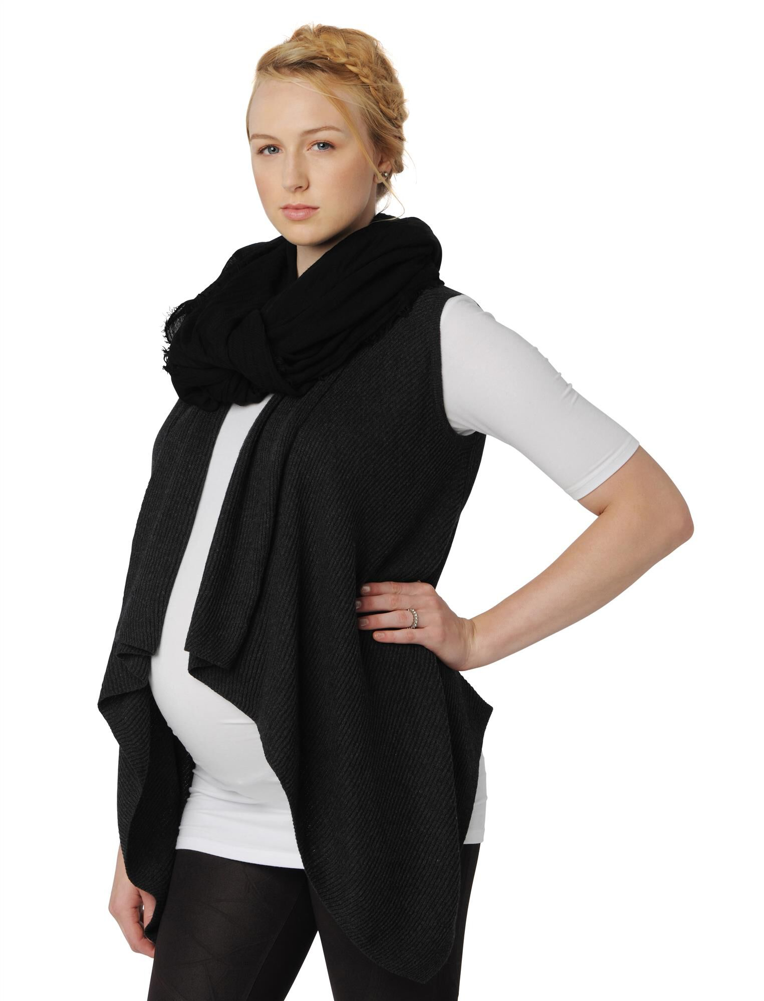 Splendid Bias Cut Maternity Vest