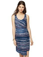 Splendid Scoop Neck Maternity Dress, Navy Multi