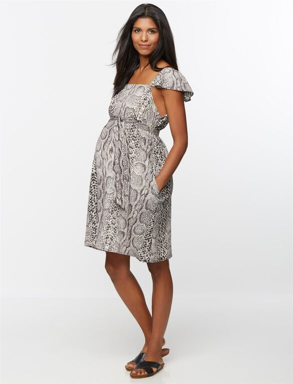 Rachel Zoe Short Print Maternity Dress, Snake Print