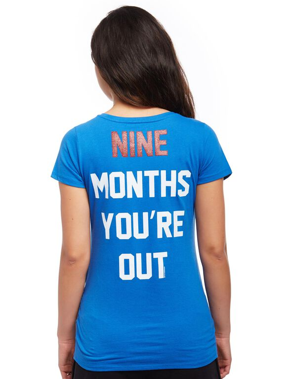 Chicago Cubs MLB You're Out Maternity Tee, Cubs Blue