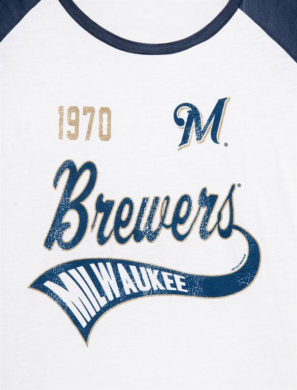 Milwaukee Brewers MLB Raglan Sleeve Maternity Tee, Brewers