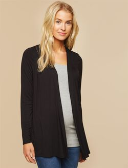 Smocked Maternity Cardigan, Black
