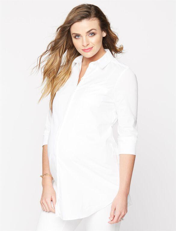 Isabella Oliver Maternity Work Shirt, White