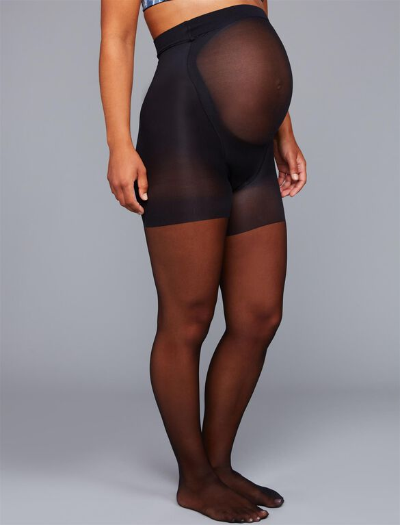 Mama Spanx Sheer Maternity Pantyhose, Black