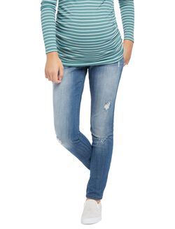 Indigo Blue Premium Secret Fit Belly Skinny Leg Maternity Jeans, Indigo Denim