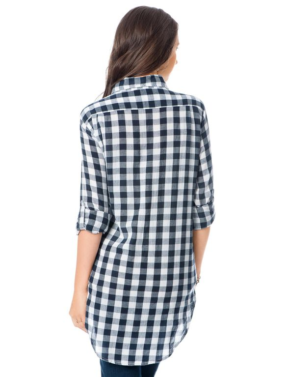 Maternity Shirt, Multi Plaid