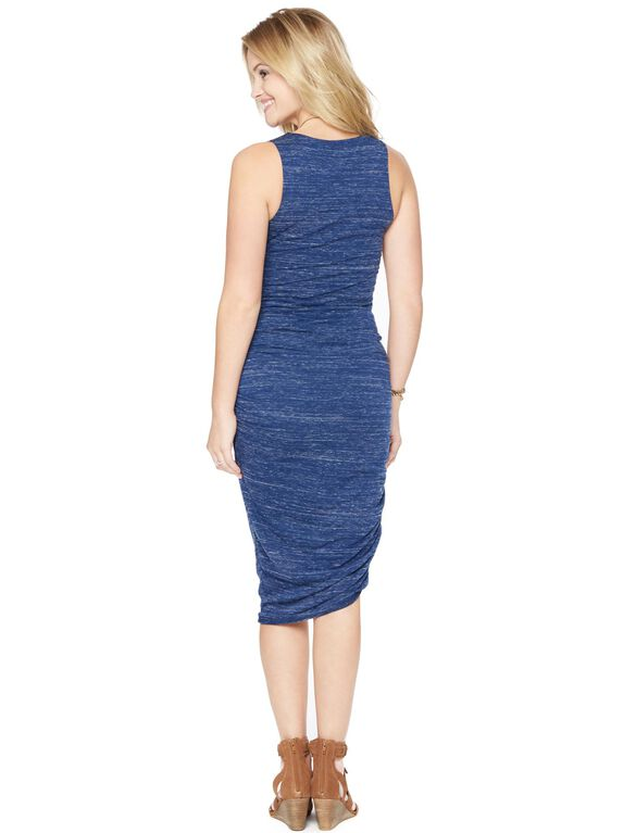 Wendy Bellissimo Heathered Maternity Dress, Blue