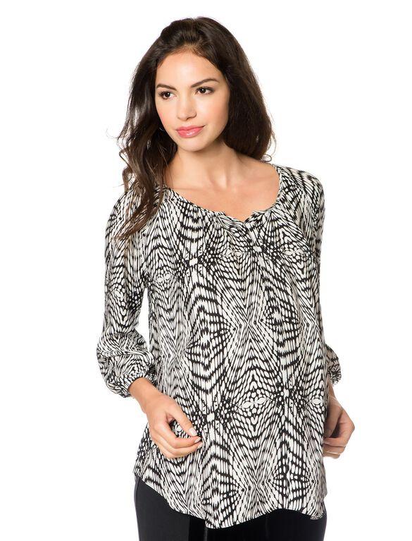 Rebecca Minkoff Silk Maternity Shirt, Multi Print