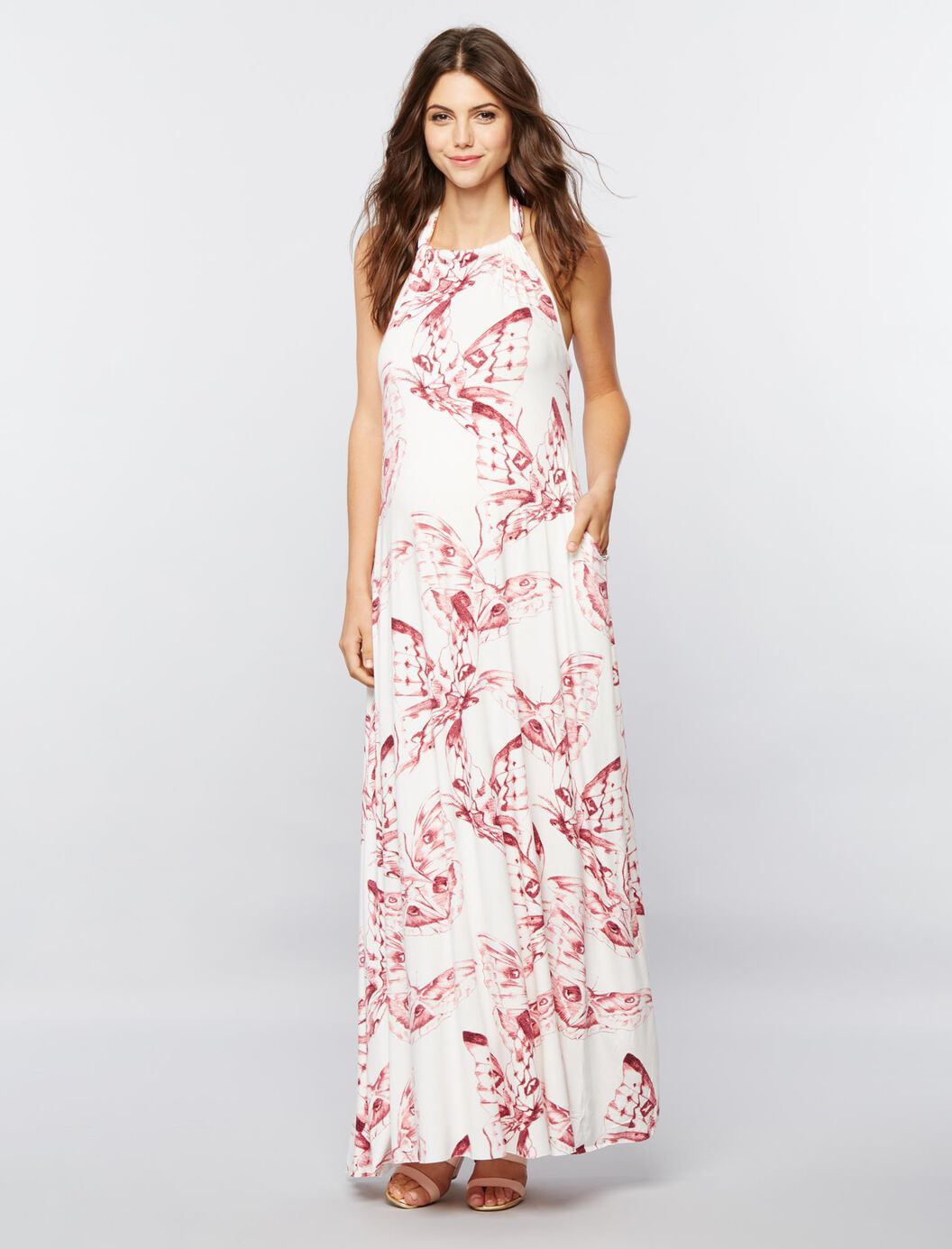 Rachel pally halter maxi maternity dress a pea in the pod maternity rachel pally halter maxi maternity dress print ombrellifo Images