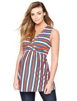 Rachel Zoe Striped Maternity Blouse, Multi Stripe