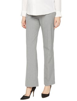 A Pea In The Pod Bi-stretch Suiting Bootcut Maternity Pants, Light Grey