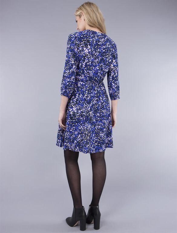 Seraphine Babydoll Maternity Dress, blue