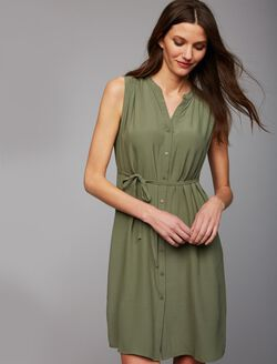 Web Only Ripe Button Front Maternity Dress, Olive