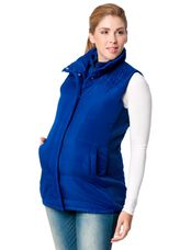 Quilted Puffer Maternity Vest, Navy