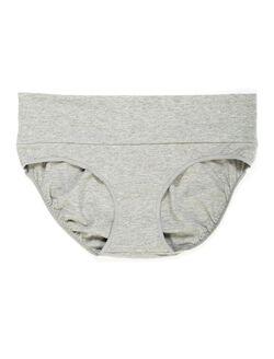 Maternity Fold Over Panties (single), Heather Grey