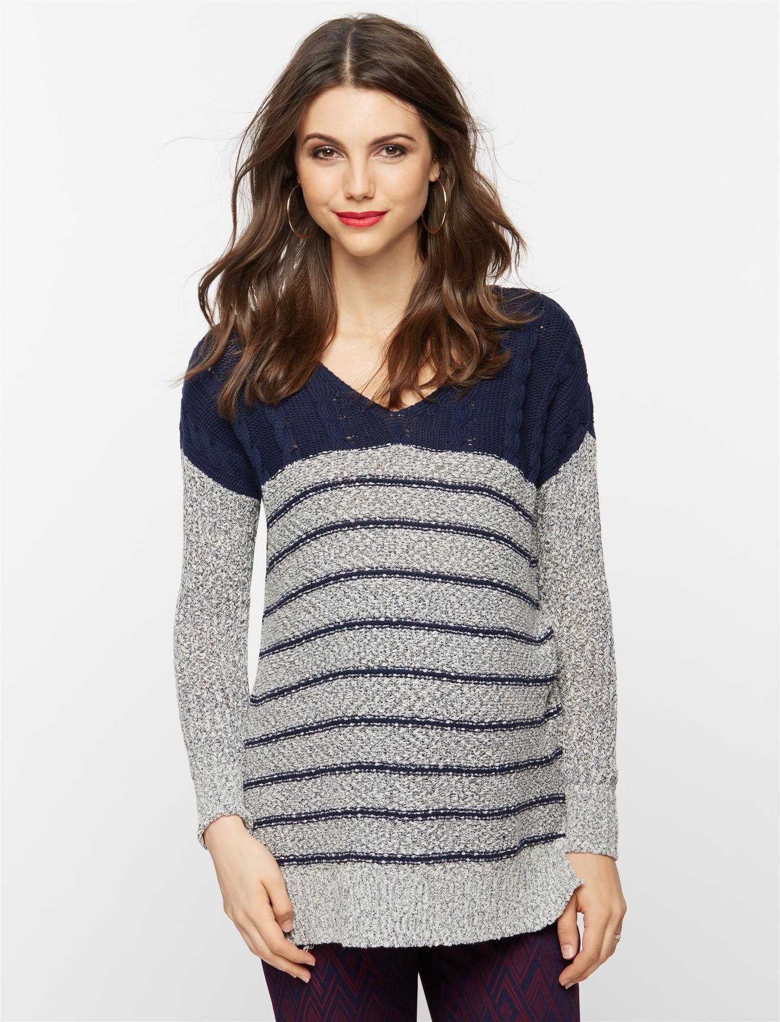 Mixed Stich Maternity Sweater