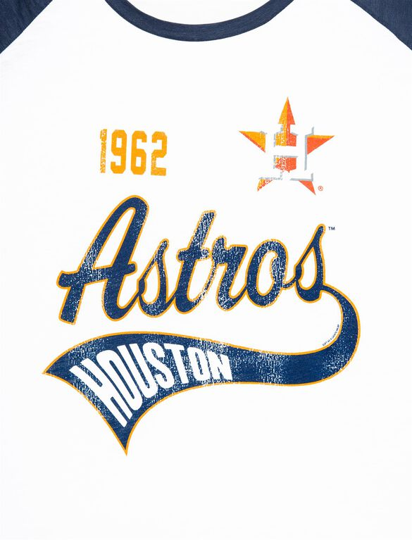 Houston Astros Raglan Elbow Sleeve Maternity Graphic Tee, Astros