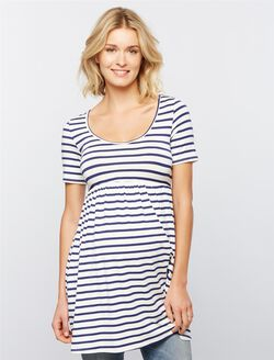 Rachel Pally Marcelle Maternity Tunic, Stripe White/Blue