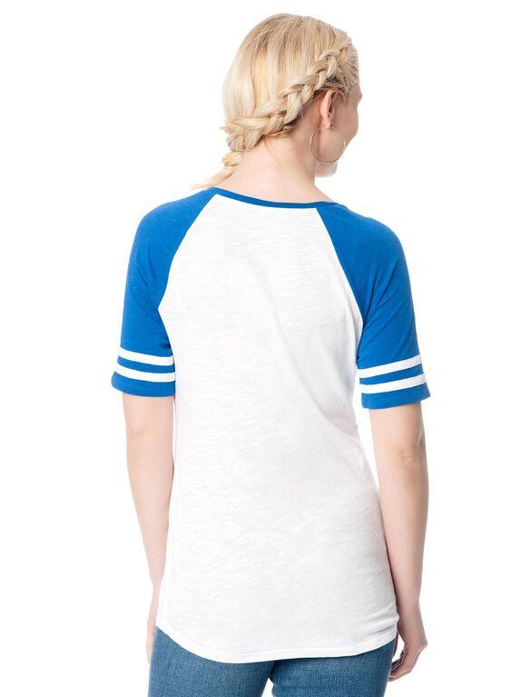 Los Angeles Dodgers MLB Raglan Elbow Sleeve Maternity Graphic Tee, Dodgers