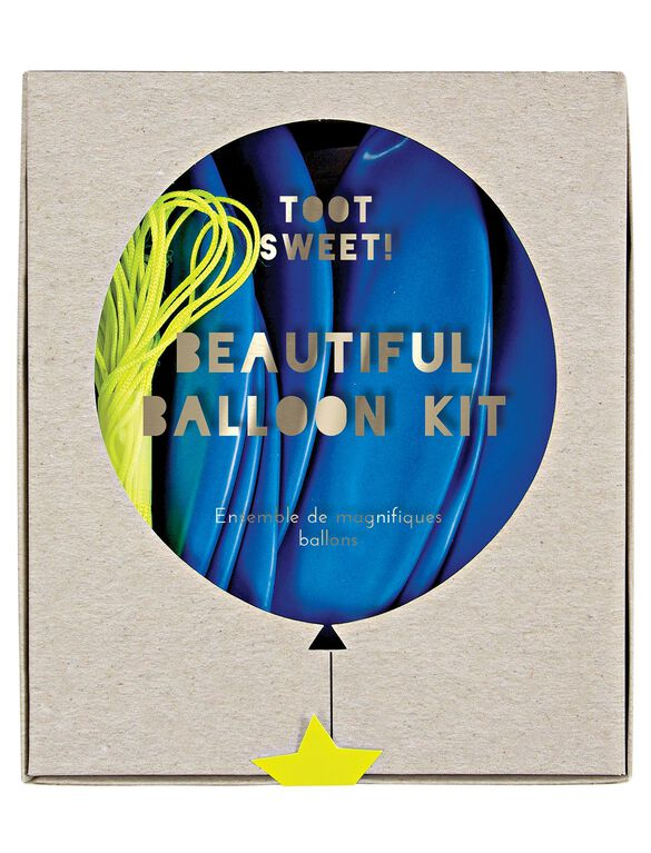 Meri Meri Toot Sweet Beautiful Balloon Kit., Blue
