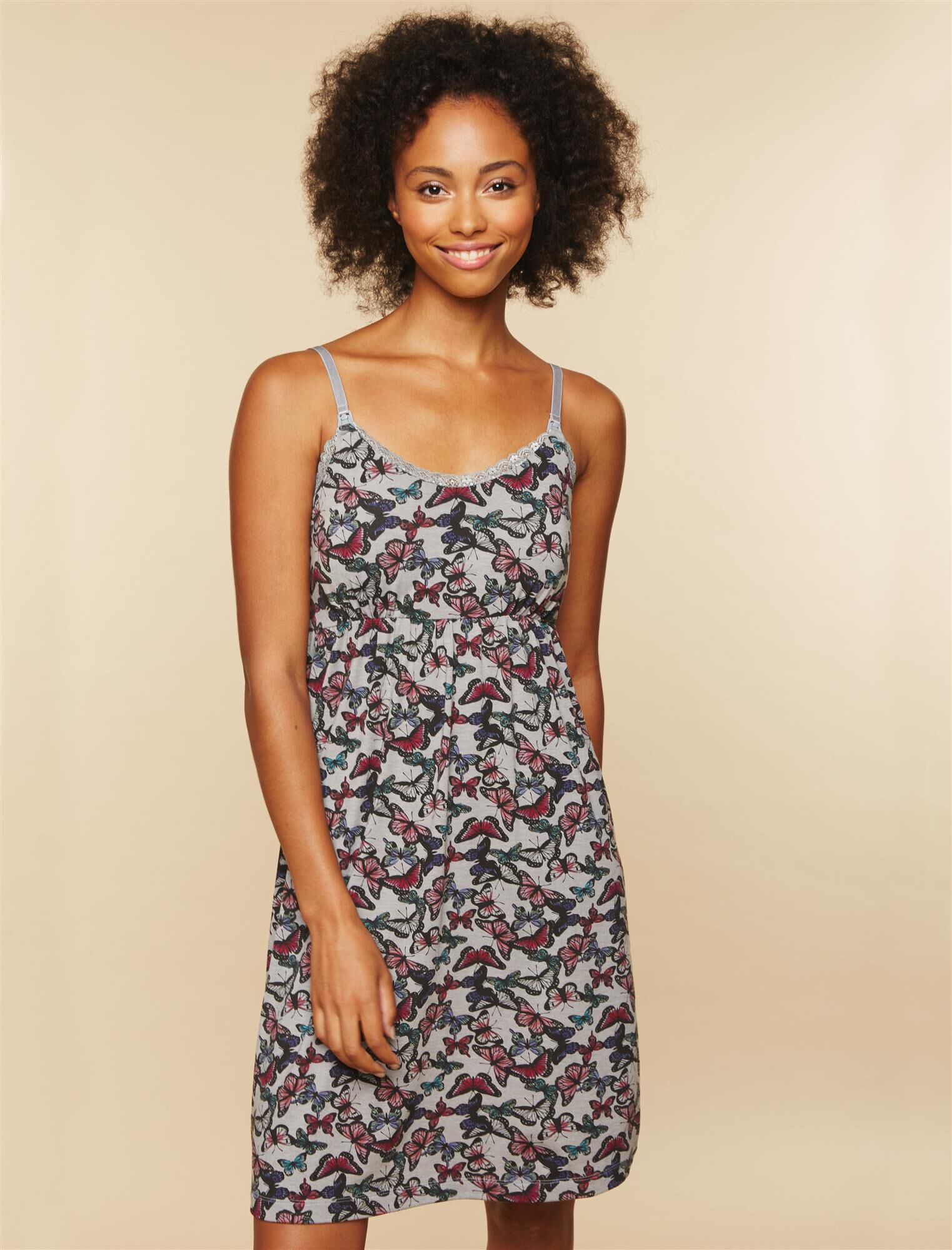 Bump In The Night Nursing Nightgown- Butterfly