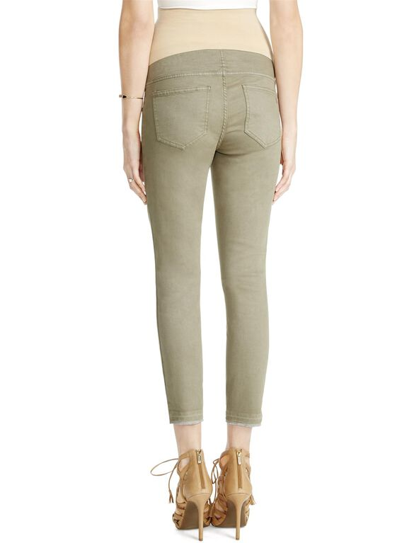 Jessica Simpson Secret Fit Belly Destructed Skinny Maternity Jeans, Olive