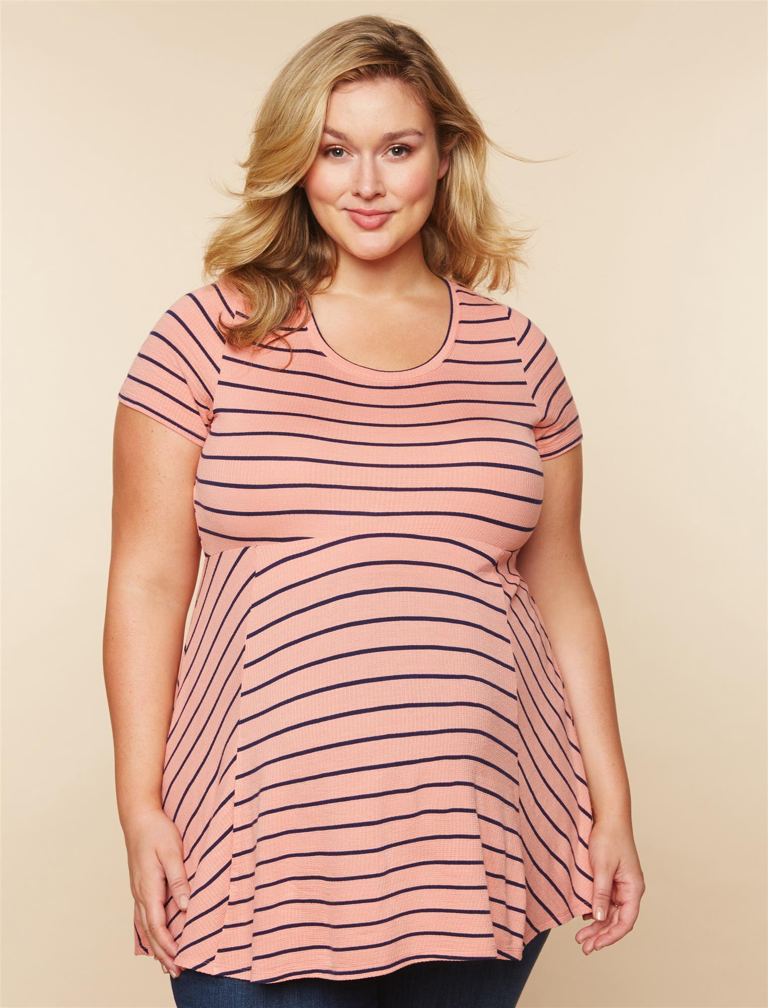 Plus Size Peplum Maternity Top