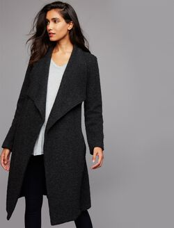 BB Dakota Wrap Maternity Jacket, Charcoal