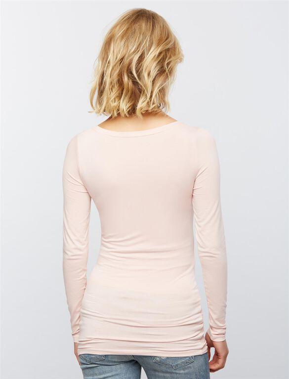 Layering Maternity Top, Pink Shadow