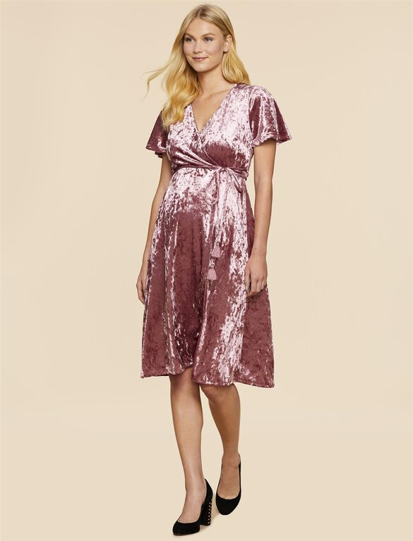 Jessica Simpson Wrap Maternity Dress, Pink