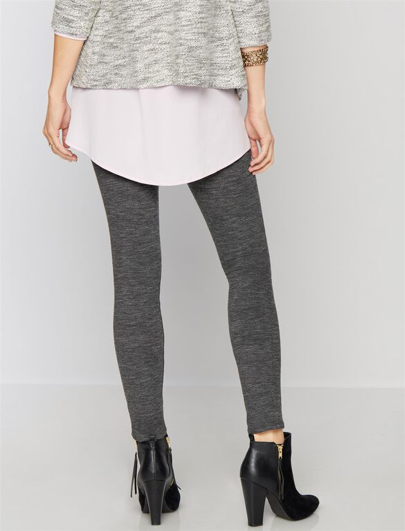 7 For Mankind Secret Fit Belly Skinny Leg Maternity Pants, Heather Charcoal