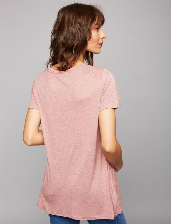 A-line Maternity Tee, Porcelain Rose