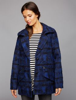 Super Soft Wool Maternity Jacket, Plaid