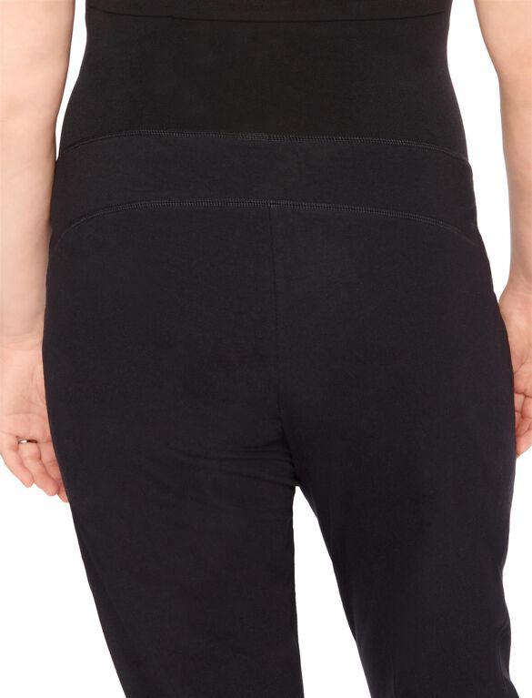 Plus Size Secret Fit Belly Boot Cut Maternity Yoga Pants, Black