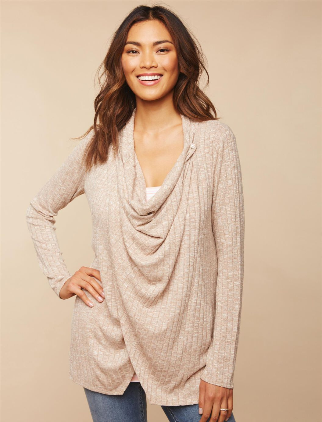 Pull Over 2 Button Closure Nursing Cardigan at Motherhood Maternity in Victor, NY | Tuggl