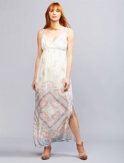 Seraphine Elisha Maternity Maxi Dress, Multi Print