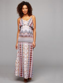 Tart Tiered Maternity Dress, Tiered Print