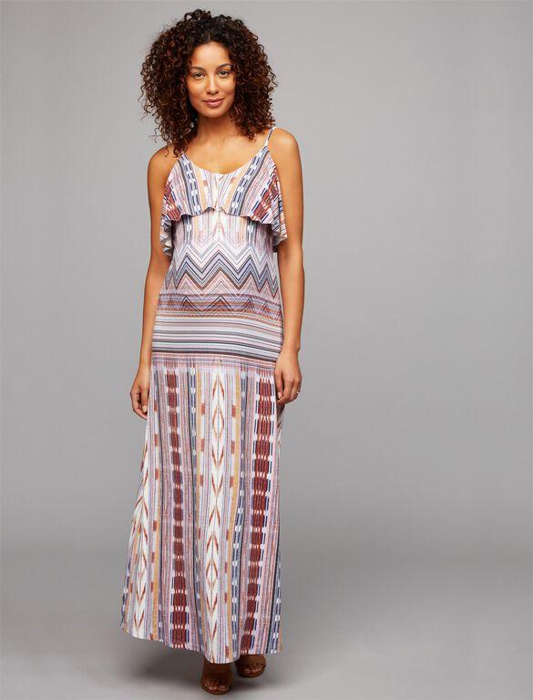 Tart Tiered Maternity Maxi Dress- Print, Print