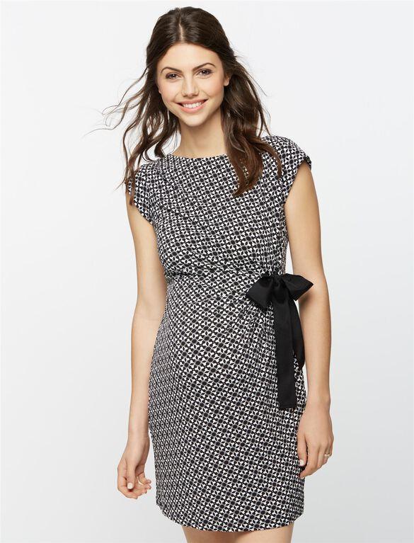 Taylor Side Tie Maternity Dress, Multi Print