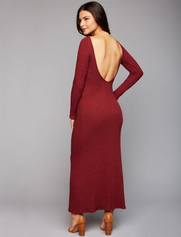 Web Only Rachel Pally Rib Knit Maternity Maxi Dress, Wine