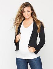 Wool Maternity Jacket, Black