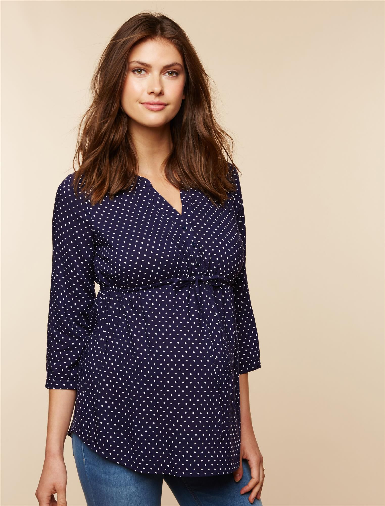 Belted Maternity Top