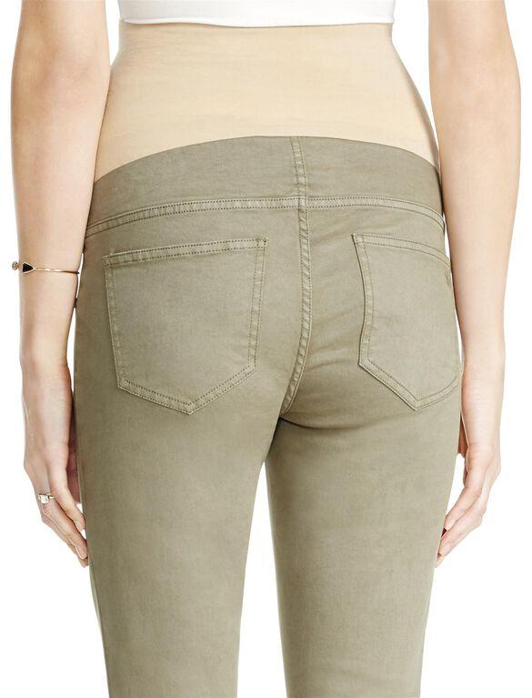 Jessica Simpson Secret Fit Belly Destructed Skinny Maternity Jeans, Olive
