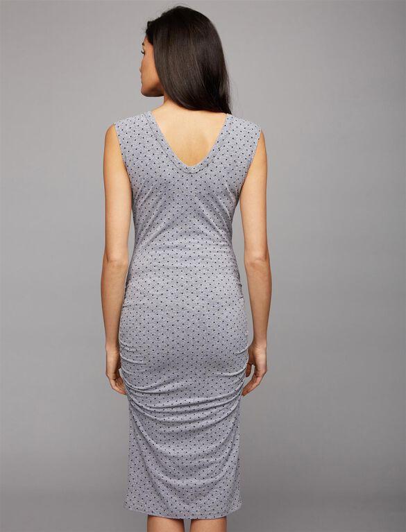 Monrow Ruched Maternity Dress, Polka Dot