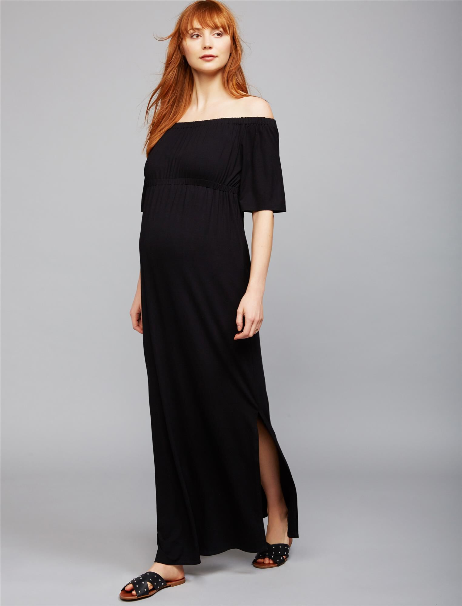 Isabella Oliver Strapless Maternity Maxi Dress