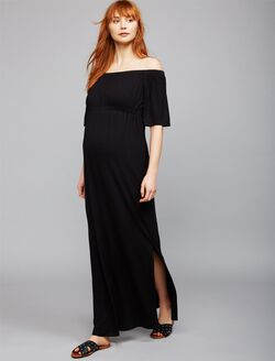 Isabella Oliver Strapless Maternity Maxi Dress, Black