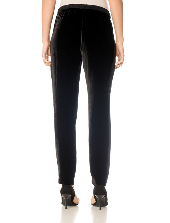 Rebecca Minkoff Under Belly Sateen Slim Leg Maternity Pants, Black