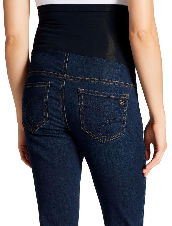 Jessica Simpson Secret Fit Belly Boot Cut Maternity Crop Jeans, Dark Wash